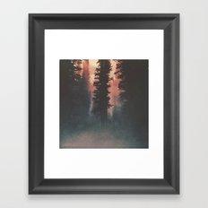Smokey Forest Framed Art Print