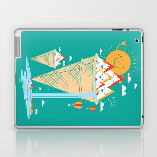 mystery island Laptop & iPad Skin