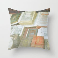 Bookstore in Budapest Throw Pillow