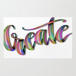 Hand Drawn Typography Lettering Phrase Create Rug