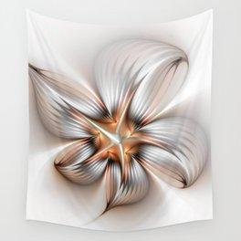 Elegance of a Flower, modern Fractal Art Wall Tapestry
