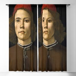 """Sandro Botticelli """"Portrait of a Young Man"""" (II) Blackout Curtain"""