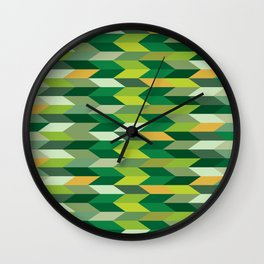Leafy Greens Wall Clock