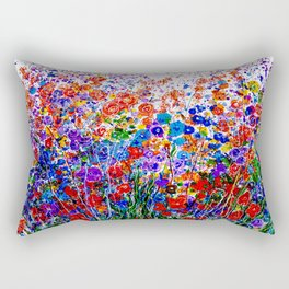 Splash  of Imagination Abstract Artwork  Rectangular Pillow