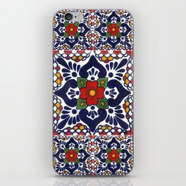 talavera mexican tile pattern iPhone Skin