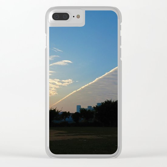 drama in the sky Clear iPhone Case