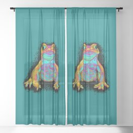 Colorful Tough Toad Sheer Curtain