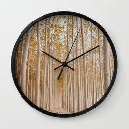 tree tunnel Wall Clock