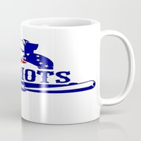 patriots Mugs featuring Patriots Logo 2 by Happy Positivity