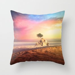 A Solitary Tree Throw Pillow