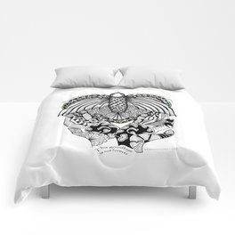 This goodbye is not forever Sympathy  - Zentangle Illustration Comforters