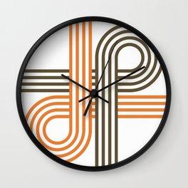 Ribbon Crossing Wall Clock