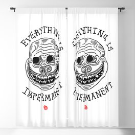 EVERYTHING IS IMPERMANENT Blackout Curtain