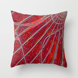 Re-Created Web of Lies20 by Robert S. Lee Throw Pillow