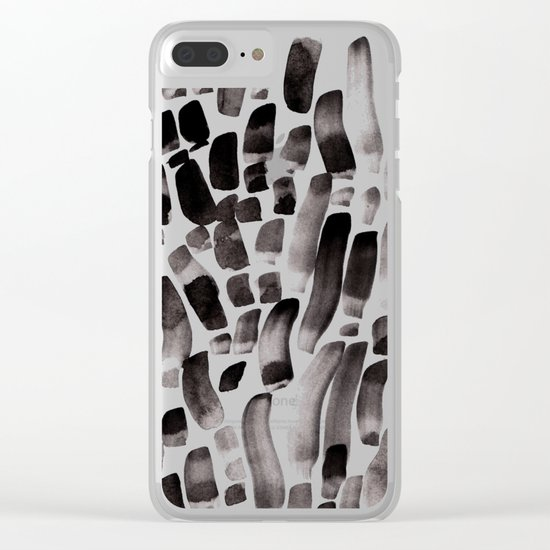 Ink Dance Clear iPhone Case