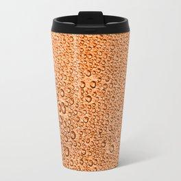 Water Condensation 05 Orange Travel Mug