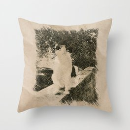 Street Cat XIII Throw Pillow