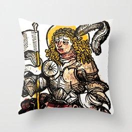 Saint Menas Throw Pillow