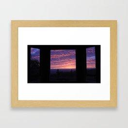 NOVEMBER SUNSET SC Framed Art Print