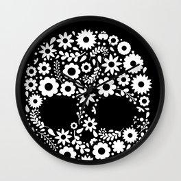 Sugar Skull Calavera print Gift for Mexican Decor Lovers Wall Clock