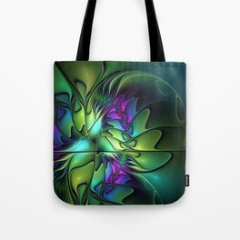 Colorful And Abstract Fractal Fantasy Tote Bag