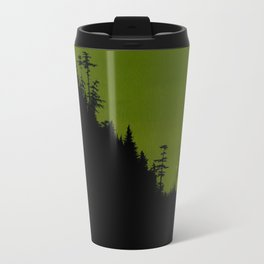 Into The Woods - Forest Landscape - Green Metal Travel Mug