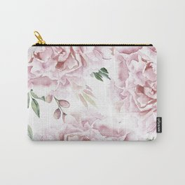 Beautiful Pink Roses Garden Carry-All Pouch