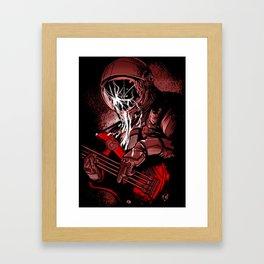 astronaut bass Framed Art Print