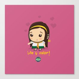 Cute Girl Master Guide Canvas Print