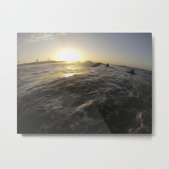 Seal Beach Bodyboarder Metal Print