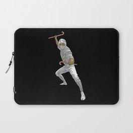 Christmas Ninja Black and White Laptop Sleeve