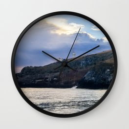 Lighthouse on the Hill Wall Clock