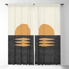 Sunset Geometric Midcentury style Blackout Curtain