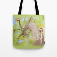 hunter Tote Bags featuring Hunter by ashtoledo
