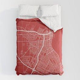 Corpus Christi Map, USA - Red Comforters