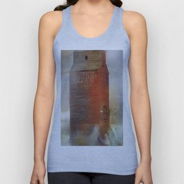 A simple red barn           (To all my American friends I wish you a very good 4 July ) Unisex Tank Top