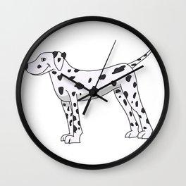 The dalmata Wall Clock