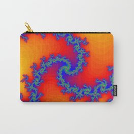 Colorful Fractal Spiral Carry-All Pouch