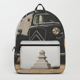 French car, fine art photography, Traction Avant, old auto, classic car, supercar, old car print Backpack