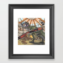 When Dinosaurs Ruled the Earth - Jurassic Park T-Rex Framed Art Print