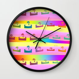 PALM TREES PATTERN Wall Clock