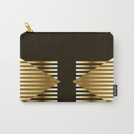 Gold Black Geometric Design Carry-All Pouch