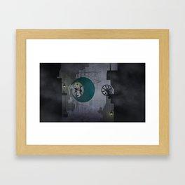 Moon City Framed Art Print