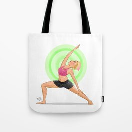 Reverse Warrior Tote Bag