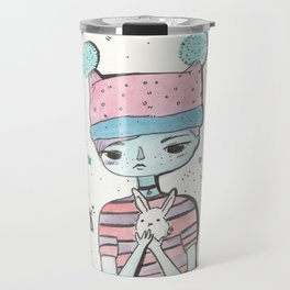 Hello lovely bunnygirl Travel Mug