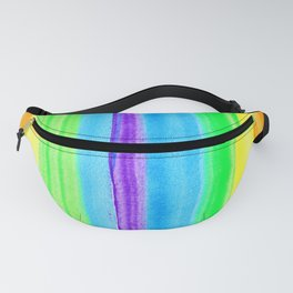 Neon Rainbow Stripes Fanny Pack