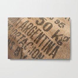 Burlap sack Metal Print