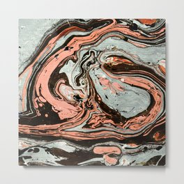 Abstract luxury painting marble Metal Print