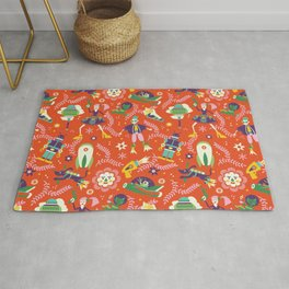 future folkart | orange Rug