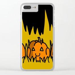 Halloween Pumpkins Speak No Evil, Hear No Evil, See No Evil | Veronica Nagorny Clear iPhone Case